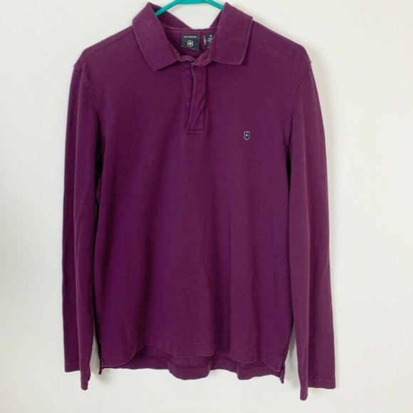 Victorinox Other - Victorinox Pima cotton henley polo l/s golf shirt